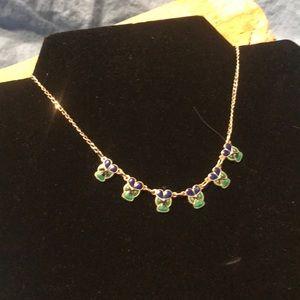 Jewelry - Vintage Sterling & Enamel Flower Necklace
